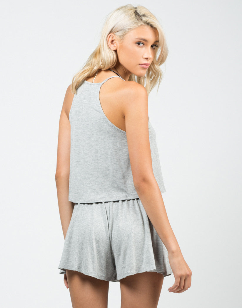Back View of Jersey Cropped Tank