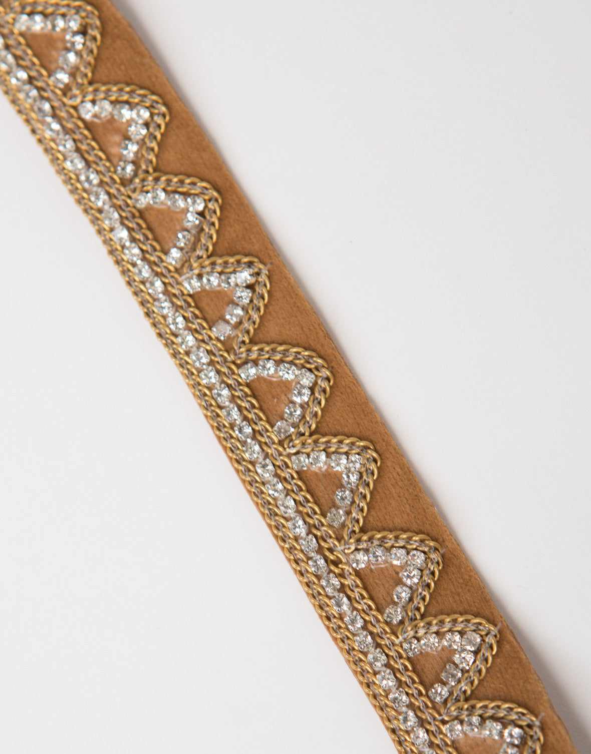 Jeweled Suede Choker