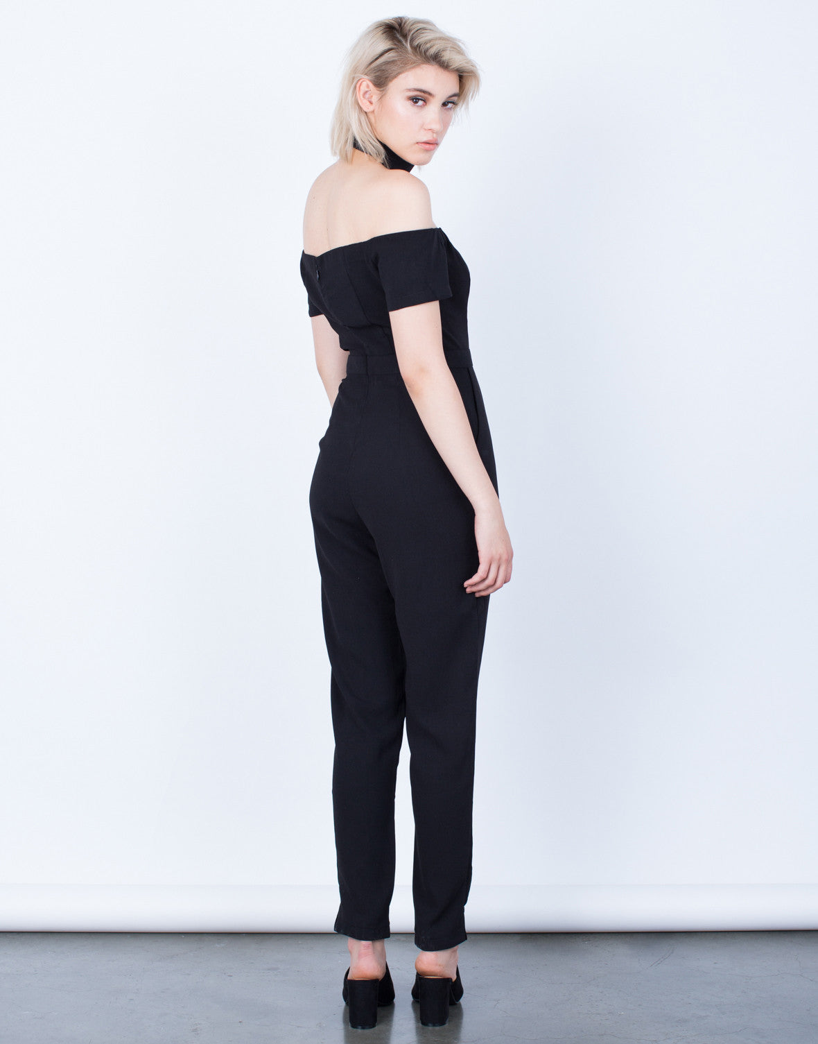 Back View of Just Right Off-the-Shoulder Jumpsuit