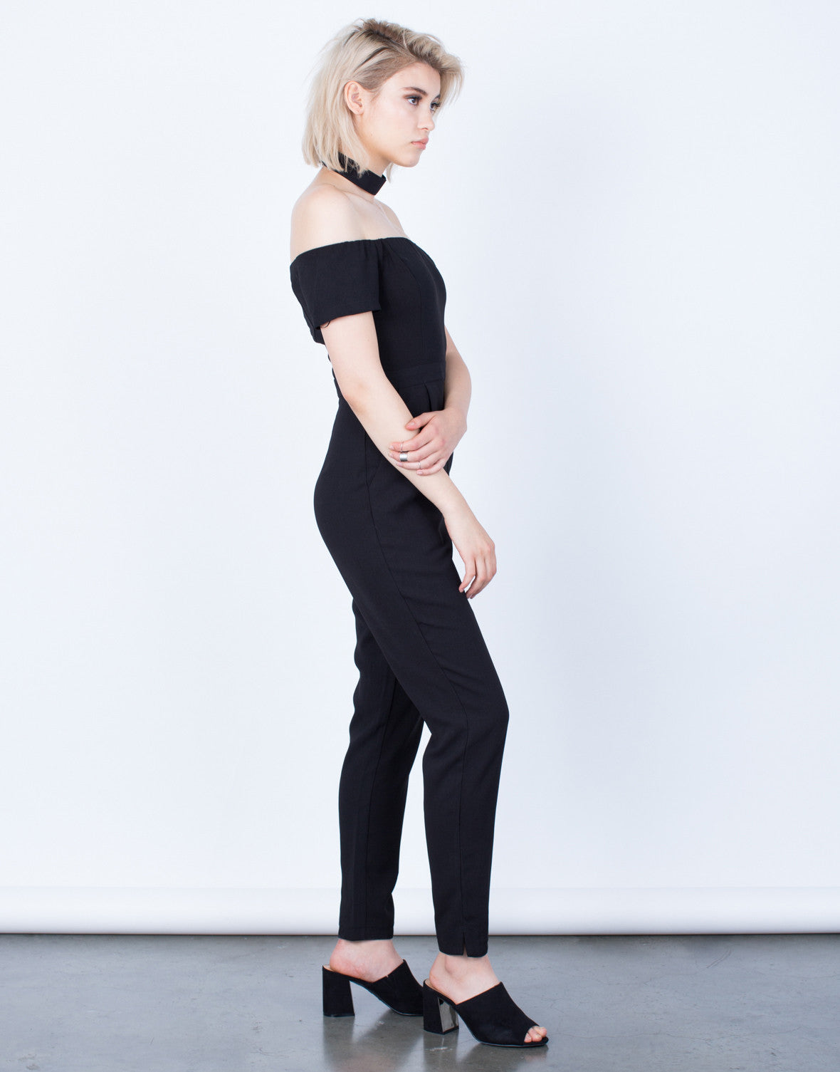 Side View of Just Right Off-the-Shoulder Jumpsuit