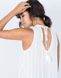 White Karla Flowy Tank - Back Detail