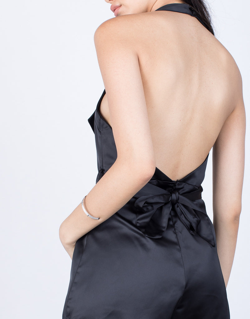 Detail of Karlie Halter Romper