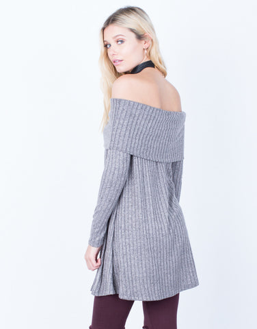 Back View of Keep Me Cozy Knit Tunic
