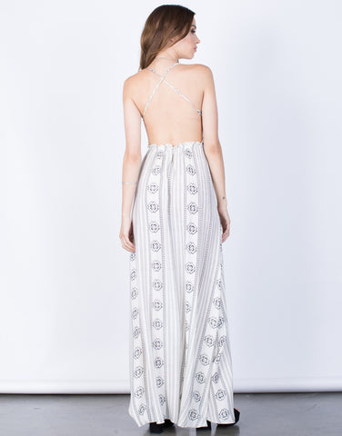 Back View of Kellyanne Maxi Dress