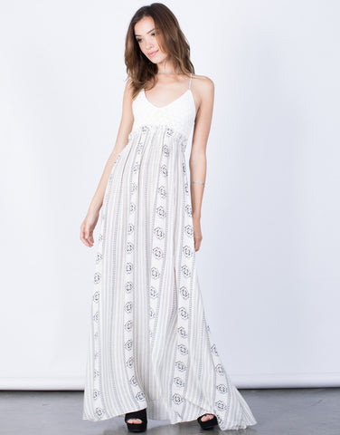 Front View of Kellyanne Maxi Dress