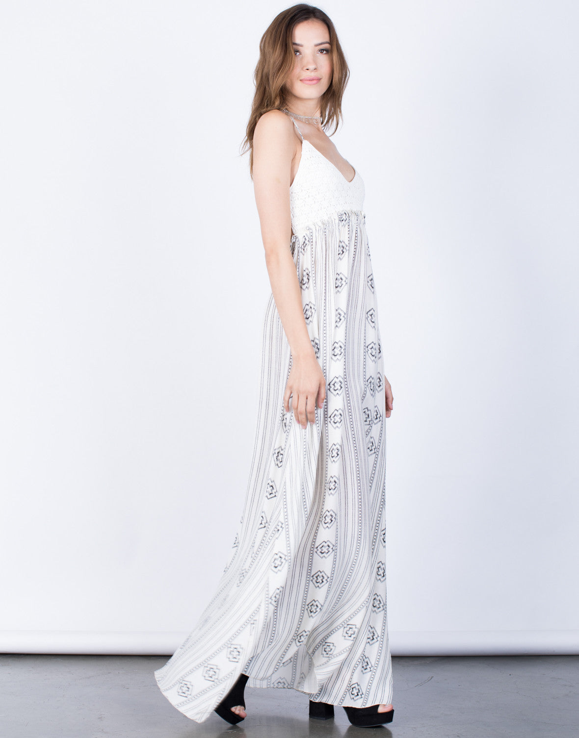 Side View of Kellyanne Maxi Dress