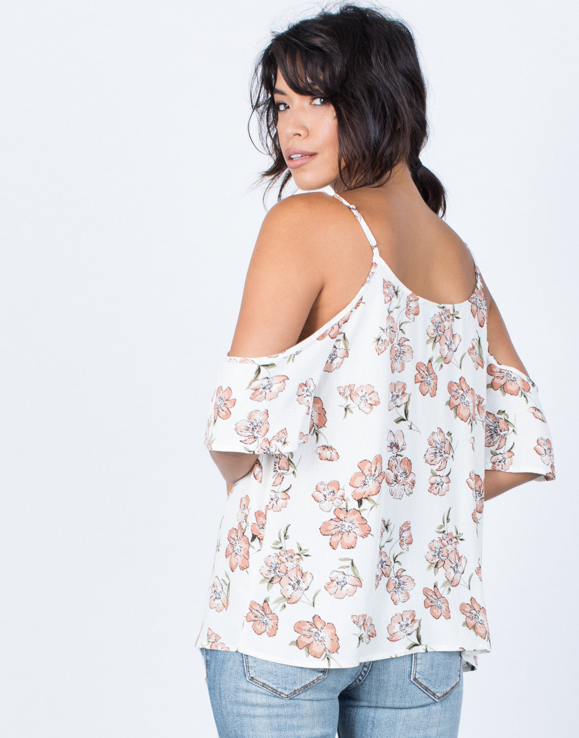 Back View of Kellie Floral Blouse