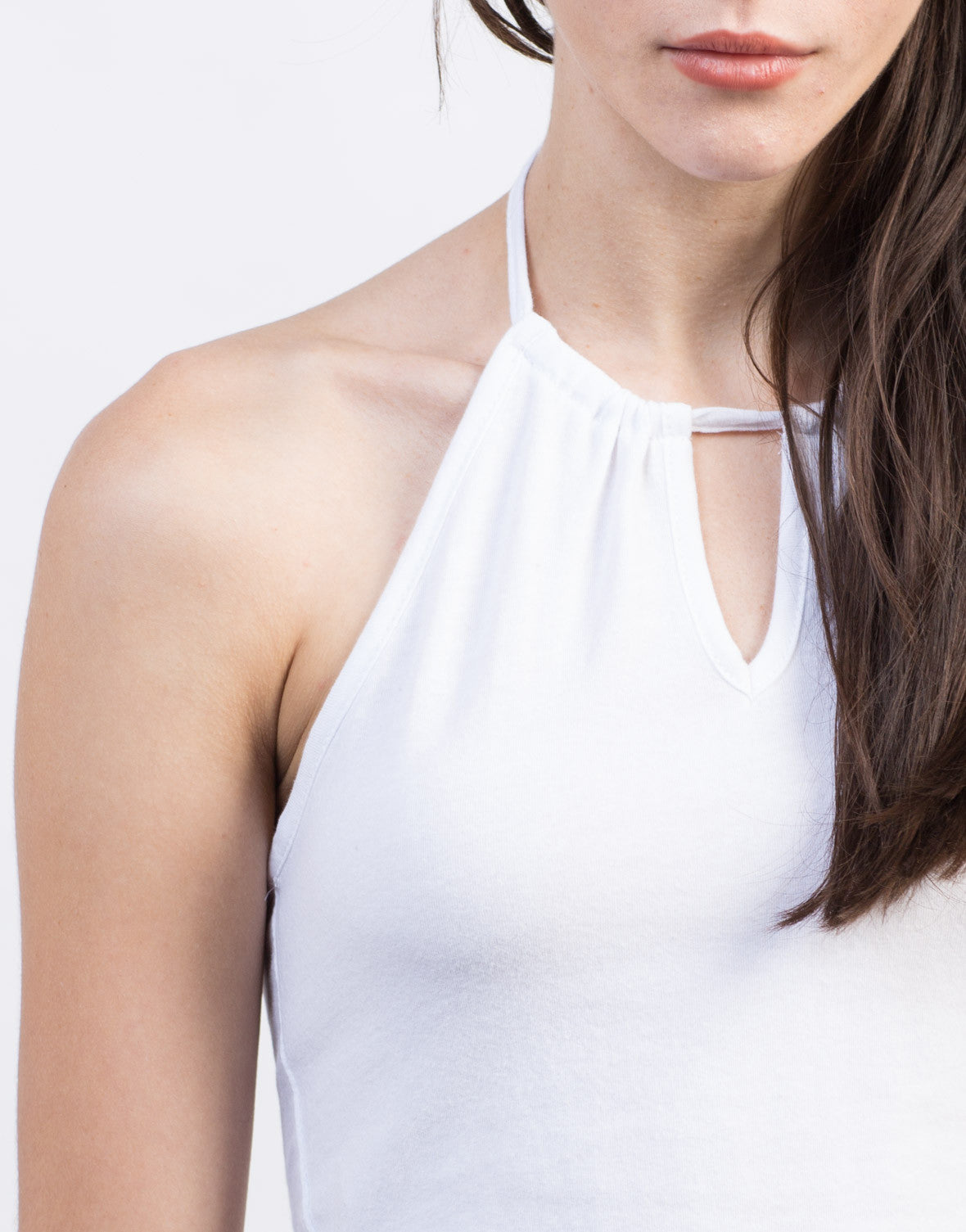 Detail of Keyhole Halter Top