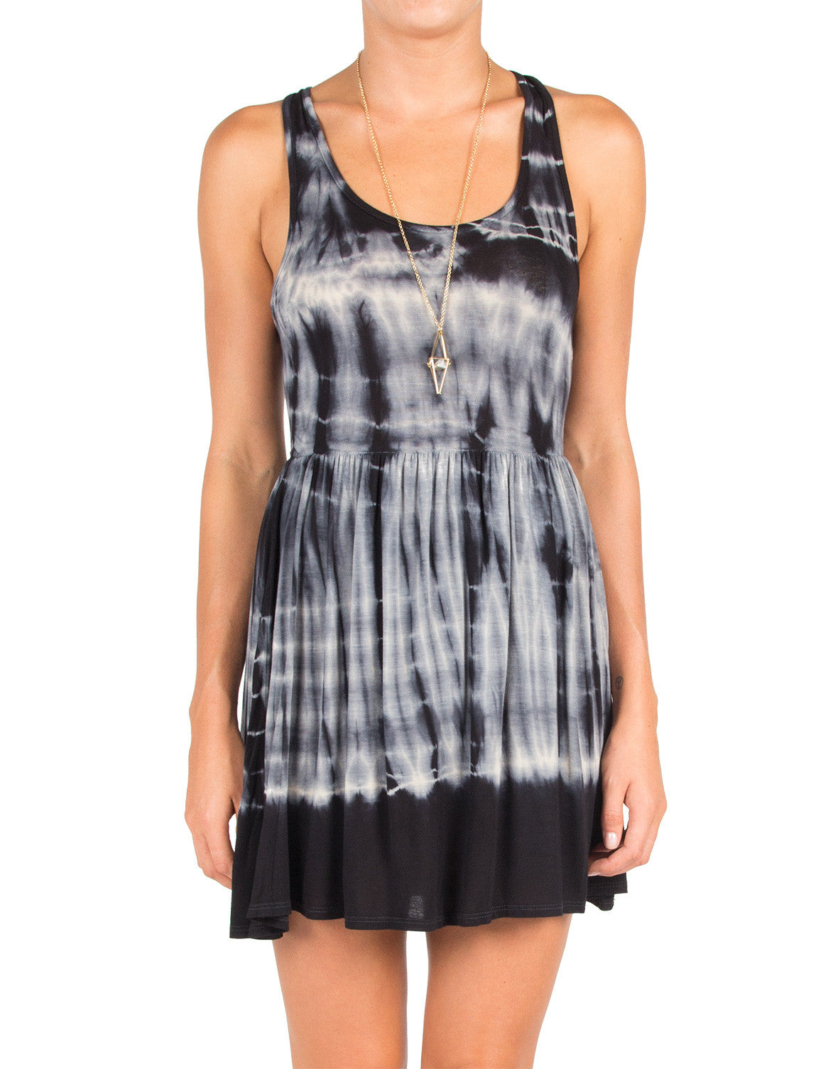 Keyhole Back Tie Dye Dress - Large
