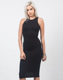 Front View of Keyhole Midi Dress