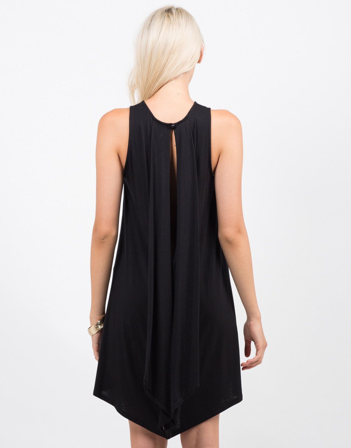 Back View of Keyhole Tank Dress
