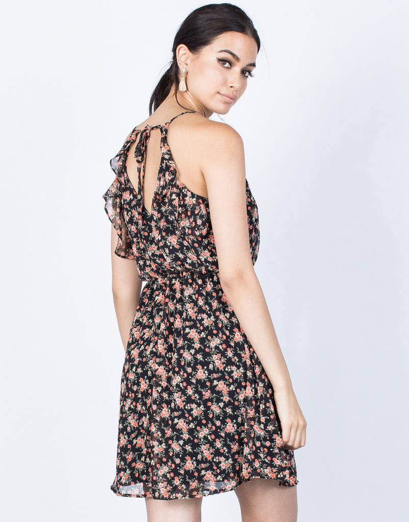 Back View of Kimberly Floral Dress