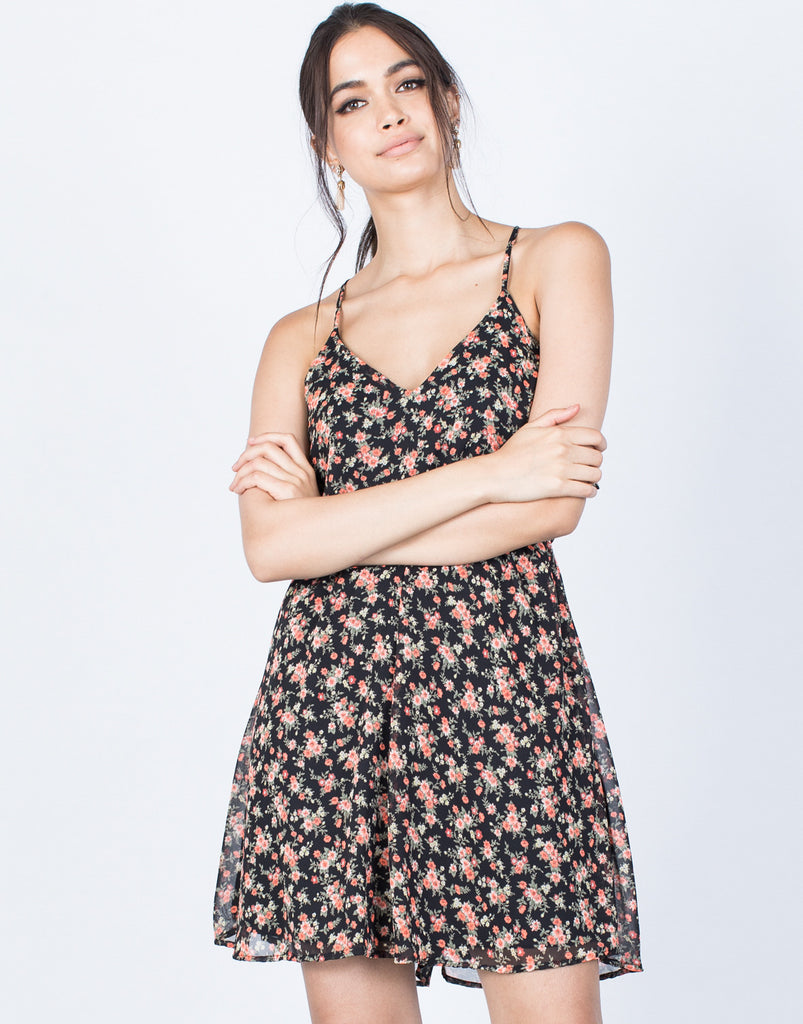 Front View of Kimberly Floral Dress