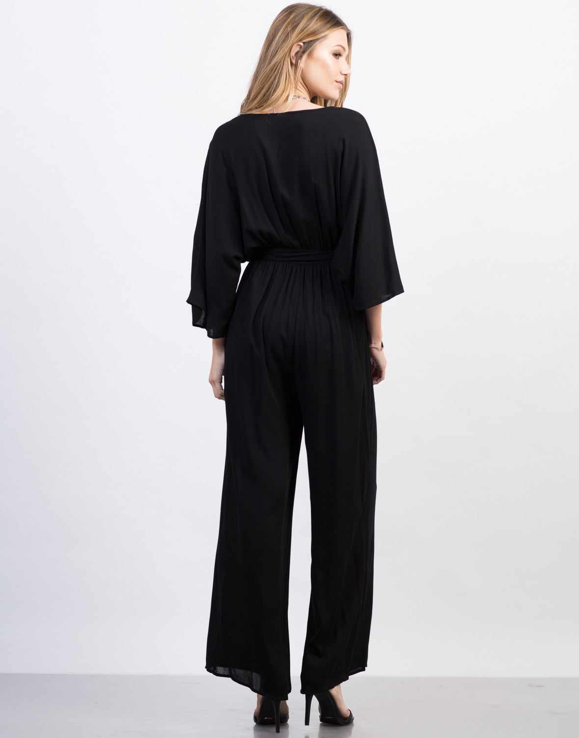 Back View of Kimono Jumpsuit