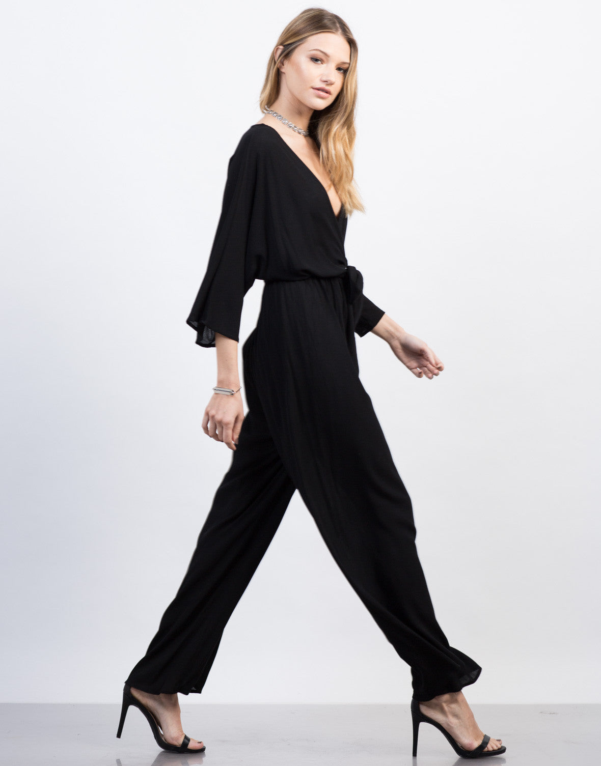 Side View of Kimono Jumpsuit