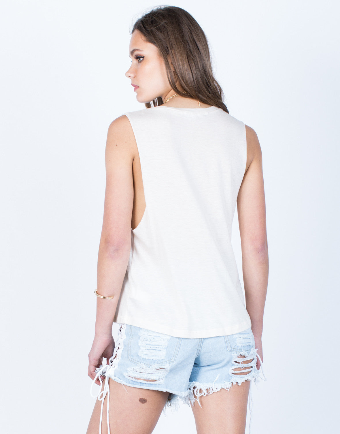 Back View of Kiss Me Graphic Tank