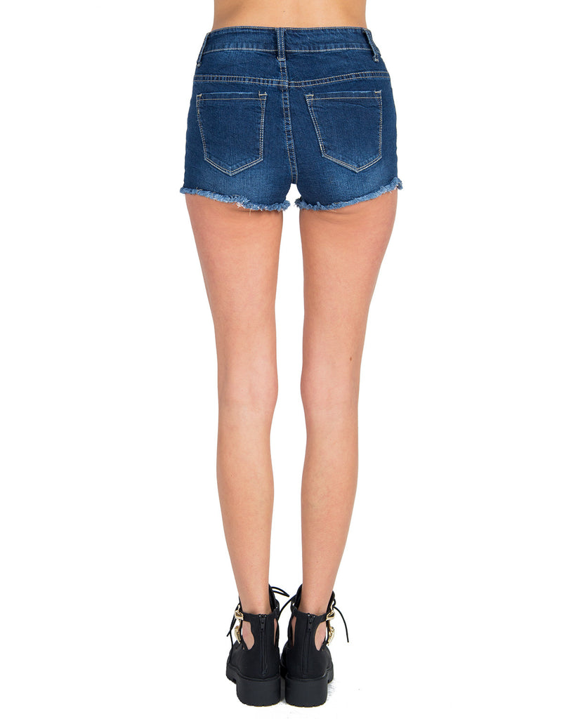 Klique B - Distressed Denim Shorts - 2020AVE