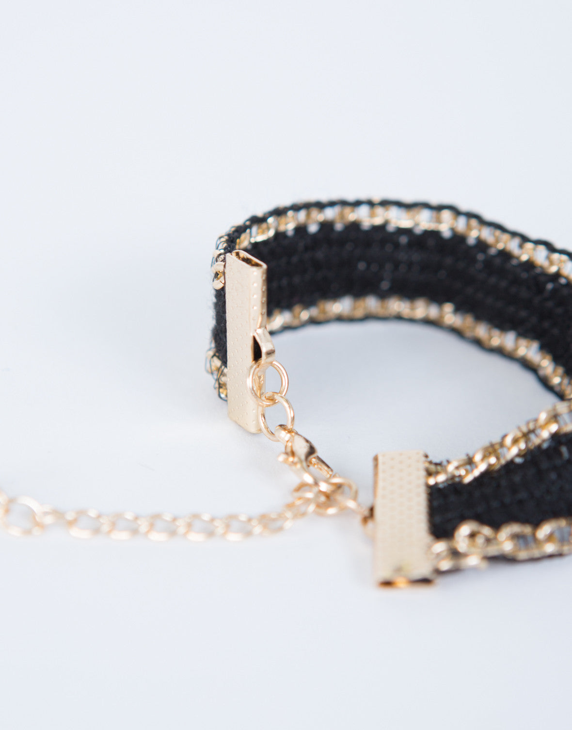 Knit Chained Bracelet