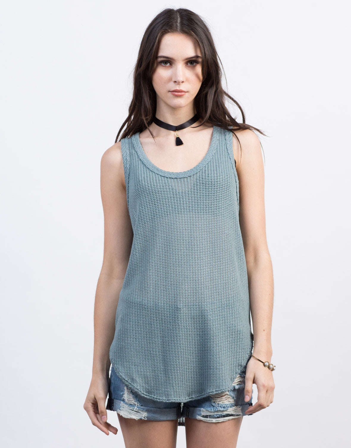 Front View of Knit It Tunic Tank