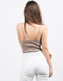 Back View of Knit Cropped Cami - Mocha