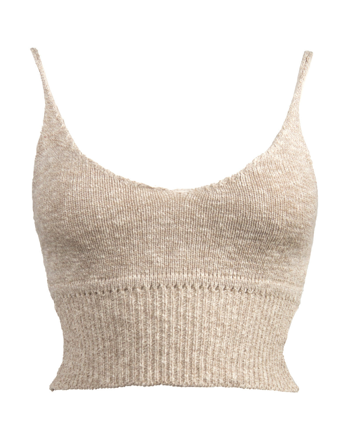 Knit Cropped Cami - Taupe - 2020AVE