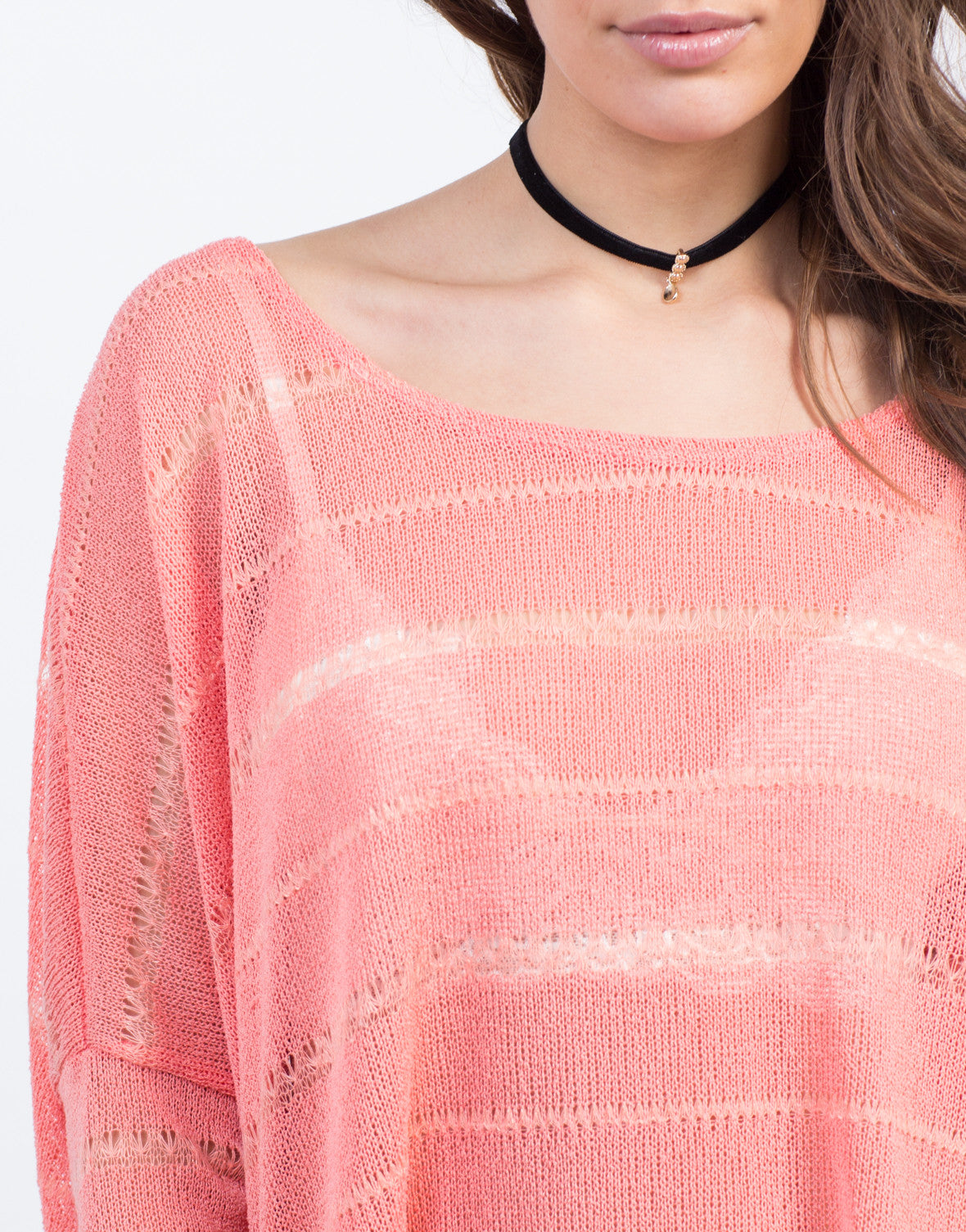 Detail of Knit Dolman L/S Tee