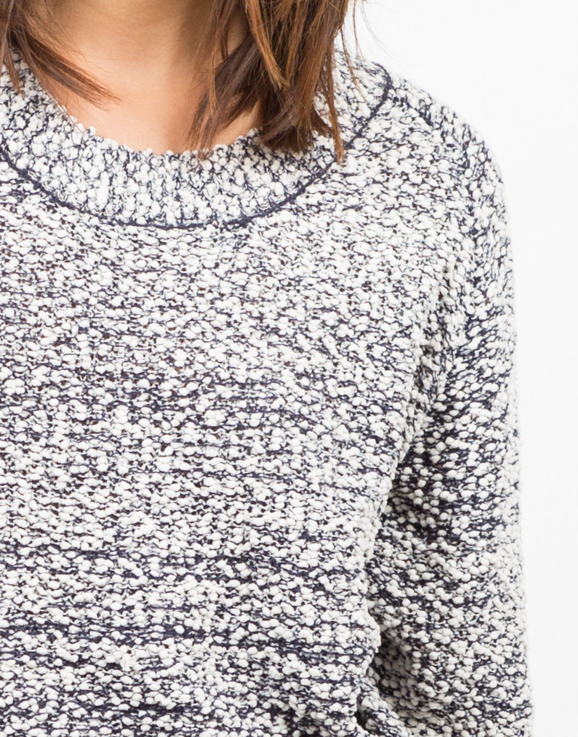 Detail of Knit Lace Back Sweater