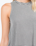 Detail of Knit Striped Sleeveless Tank