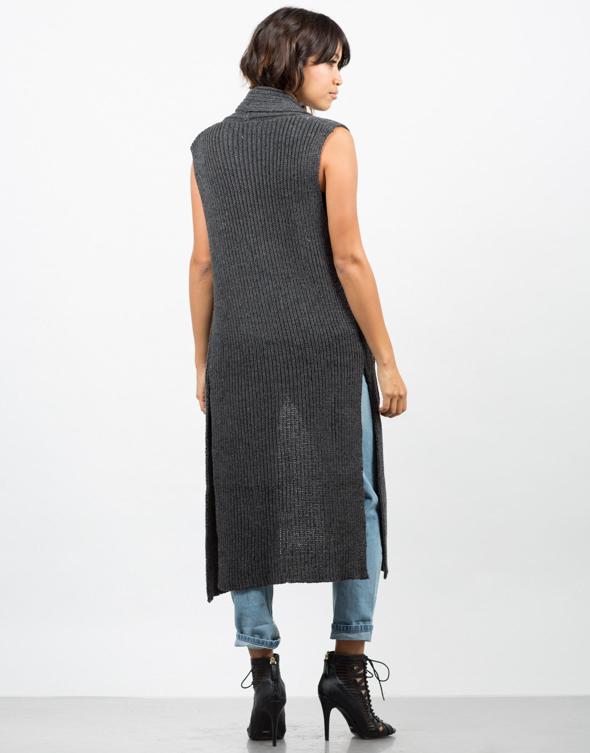 Back View of Knit Sweater Vest