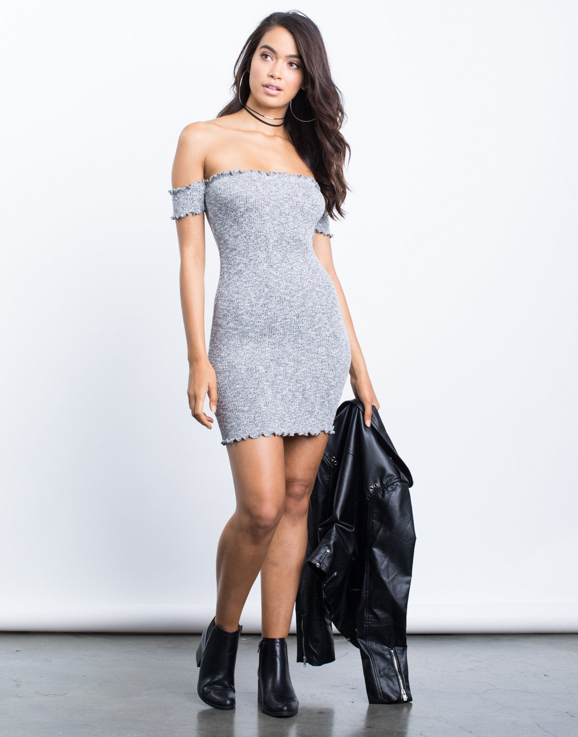 Knitted Frills Mini Dress - 2020AVE