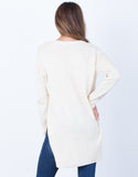 Back View of Knitted in Love Sweater Top