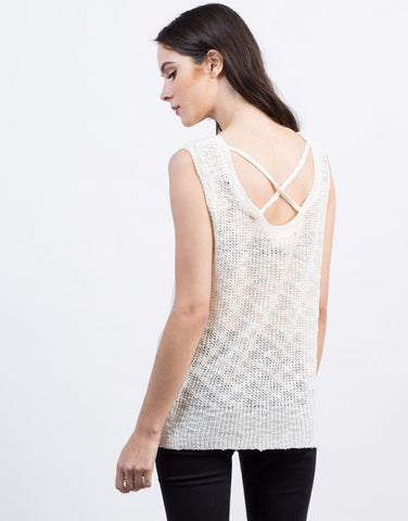 Back View of Knitted Sweater Tank