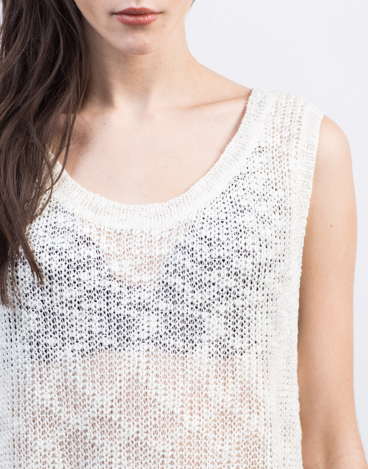 Detail of Knitted Sweater Tank