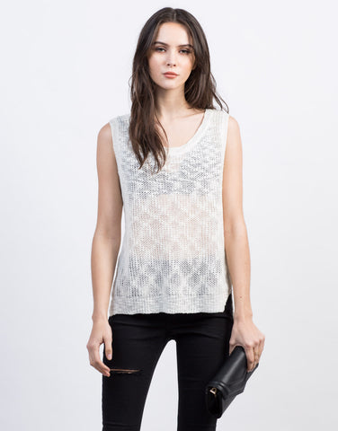 Front View of Knitted Sweater Tank