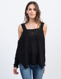 Knitted Cold Shoulder Top