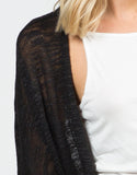 Detail of Knitted Dolman Cardigan