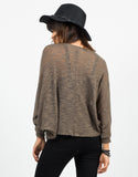 Back View of Knitted Dolman Cardigan