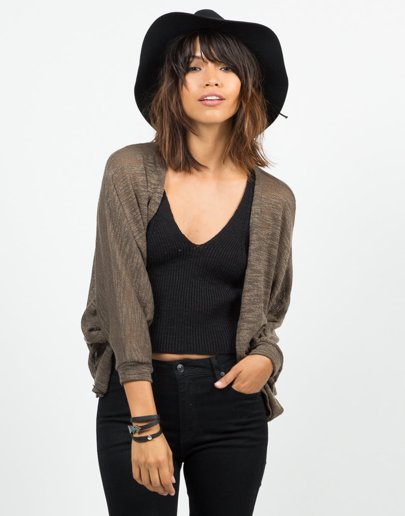 Knitted Dolman Cardigan - 2020AVE