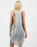 Back View of Knitted Open Sides Dress