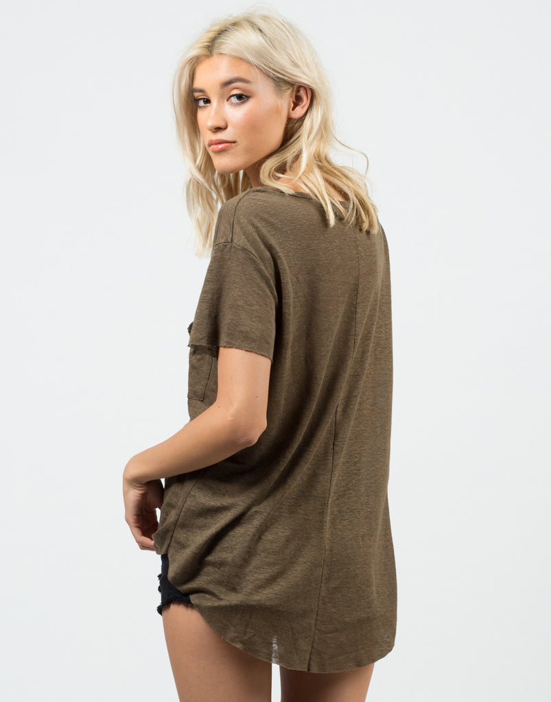 Knitted Pocket Tee - 2020AVE