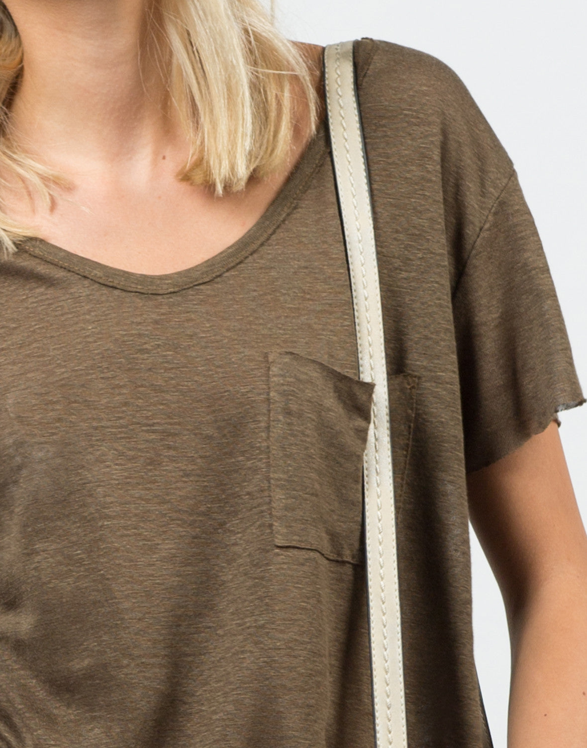 Detail of View of Knitted Pocket Tee