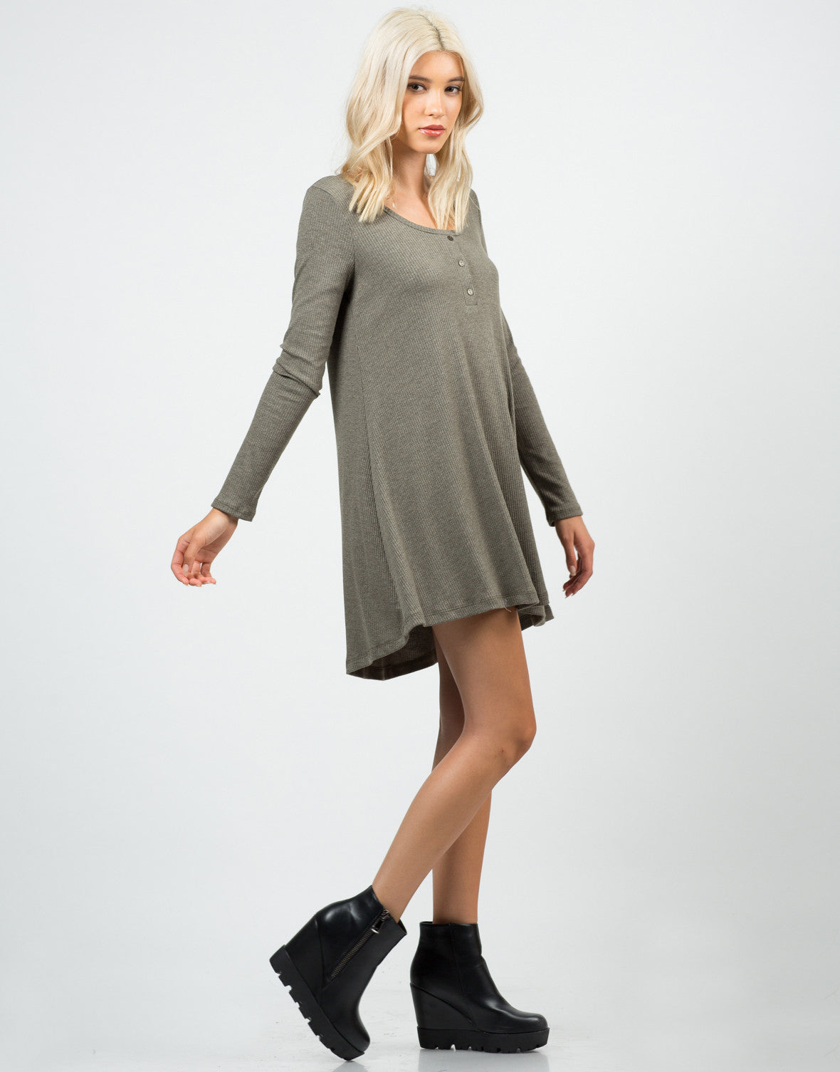 Knitted Ribbed Dress - 2020AVE