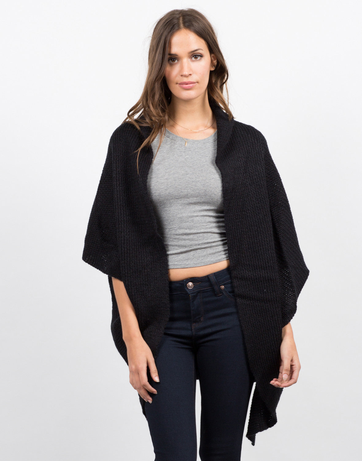 Knitted Short Sleeve Cardigan - Lightweight Cardigan - 2020AVE