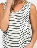 Detail of Knitted Striped Tank