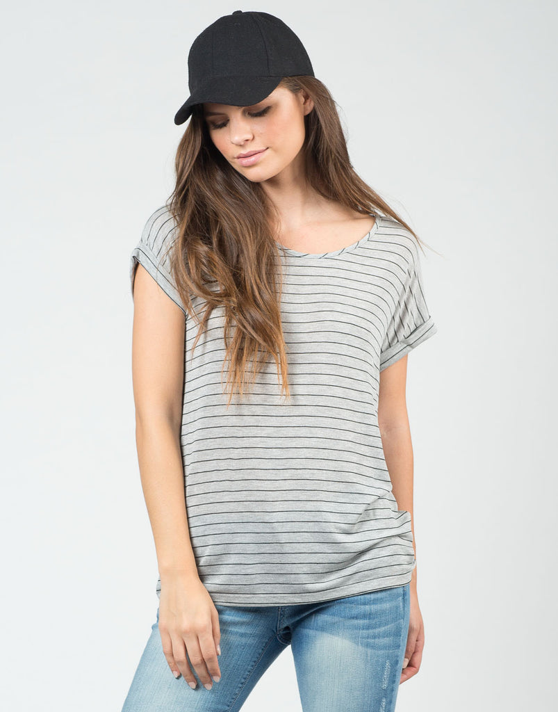 Knitted Stripe Tee - 2020AVE