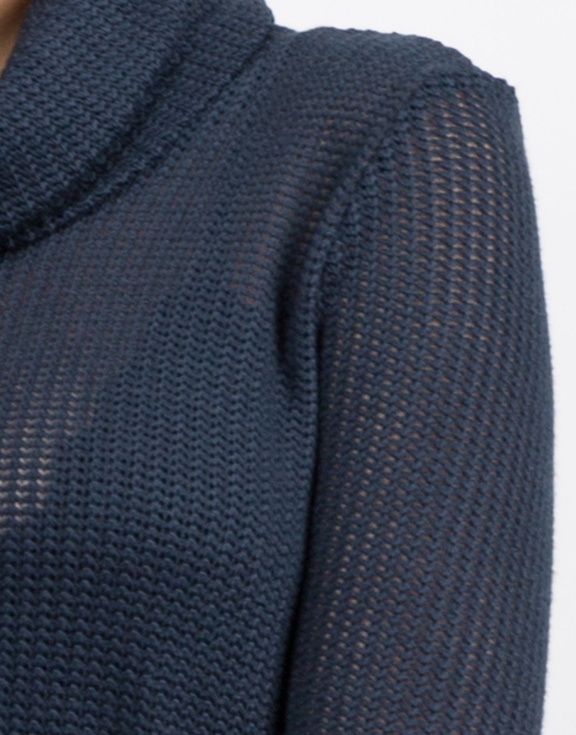 Detail of Knit Turtleneck Tunic Top