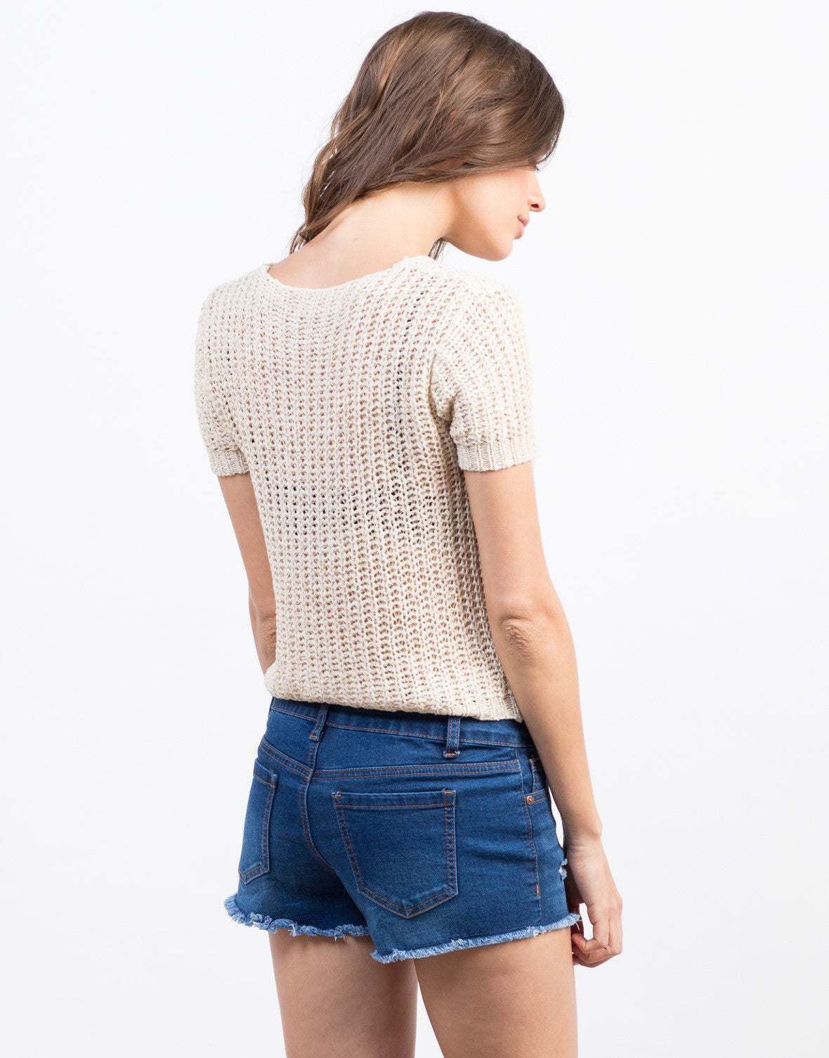 Back View of Knitty Gritty Tee