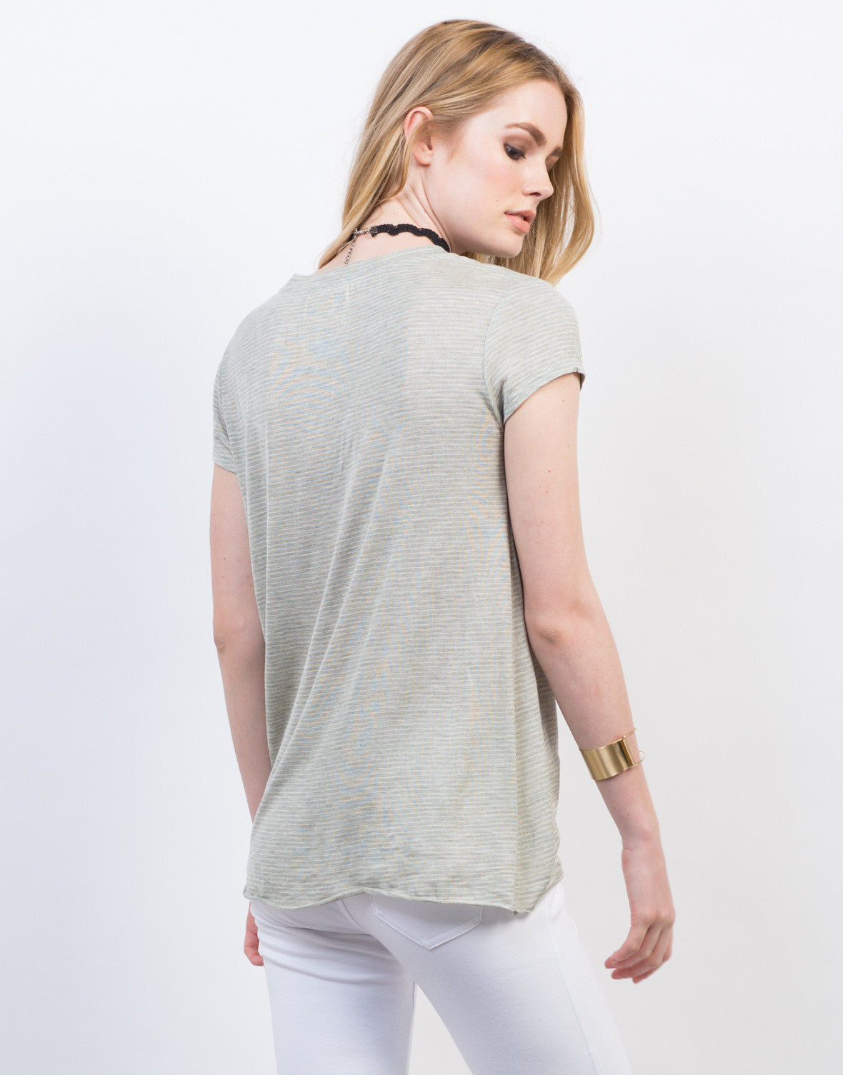 Back View of Knot It Up Tee