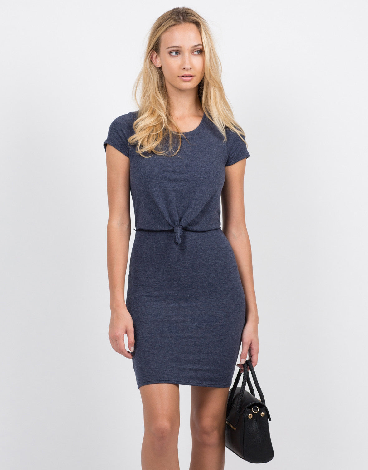Front View of Knot It Dress