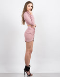 Side View of Knot It Mini Skirt